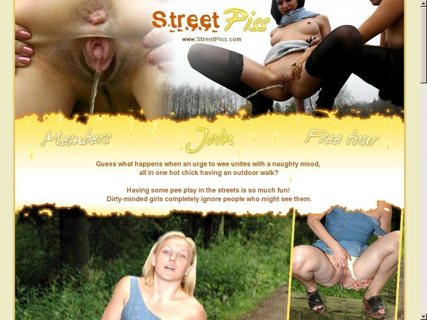 Street Piss Sign Up Page
