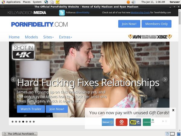 Pornfidelity With Gift Card